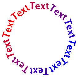 "Output of Example 8, ""Using GdkPangoRenderer to draw transformed text"""